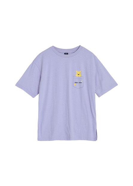 維尼假口袋長版T恤
