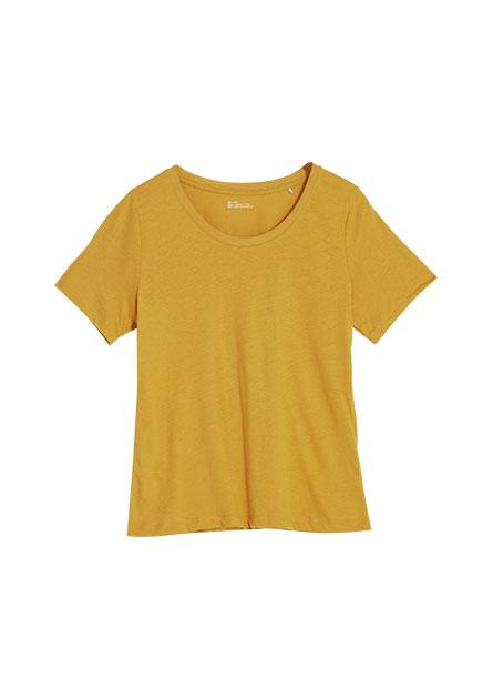 寬圓領多色棉質T恤