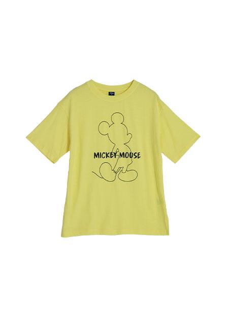 線條米奇米妮印花T恤