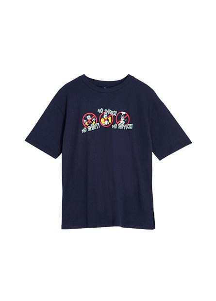 米奇好朋友印花長版T恤