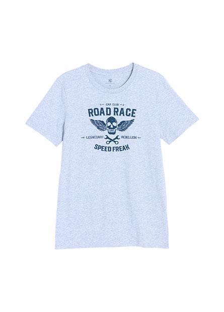骷髏印花短袖T恤