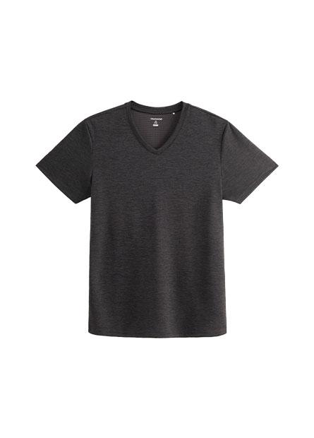 快適排汗機能V領T恤