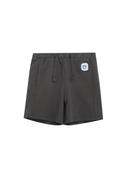 男嬰抽繩單側口袋短褲