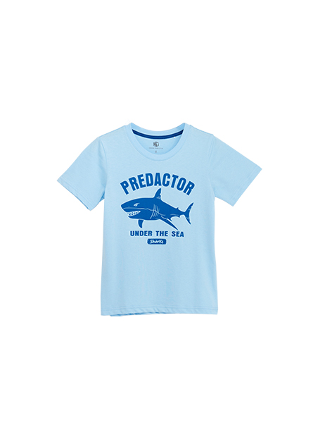 男童鯊魚印花T恤