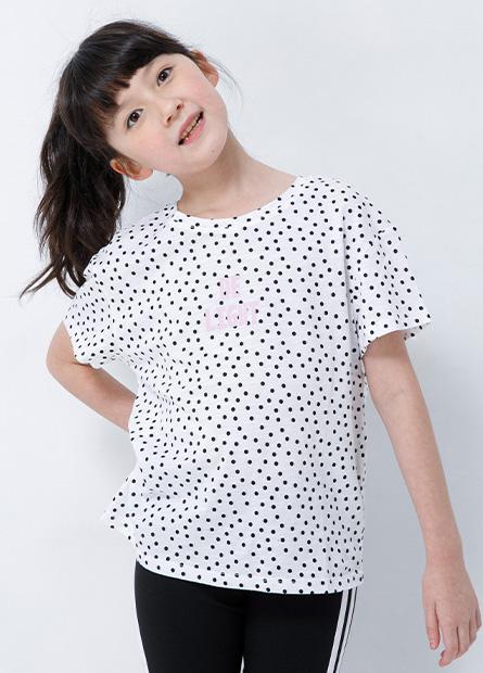 女童點點英文字樣T恤