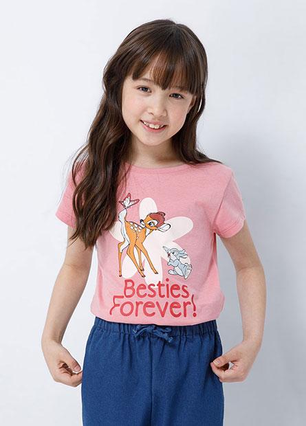 女童迪士尼印花T恤