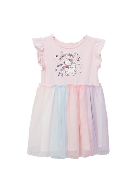 Hello Kitty聯名荷葉袖洋裝