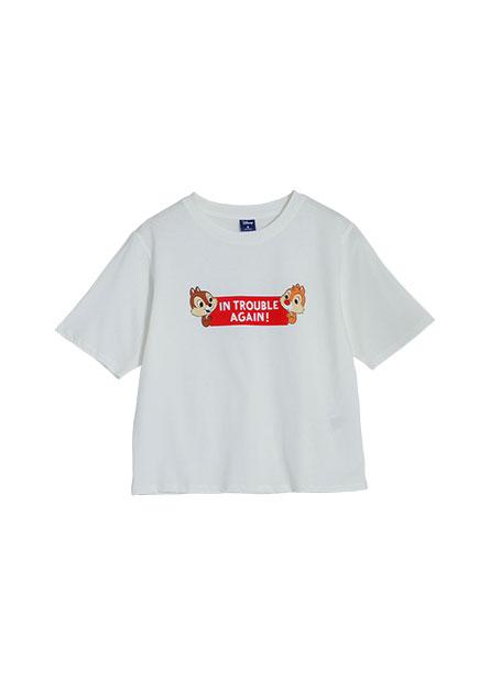 奇奇蒂蒂短版印花T恤