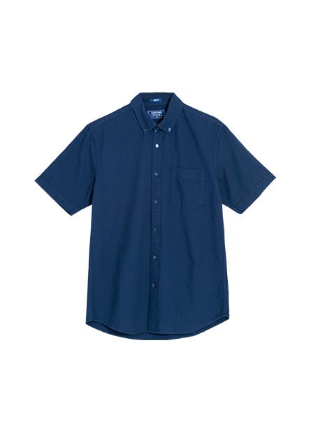 Slim Fit純棉短袖襯衫
