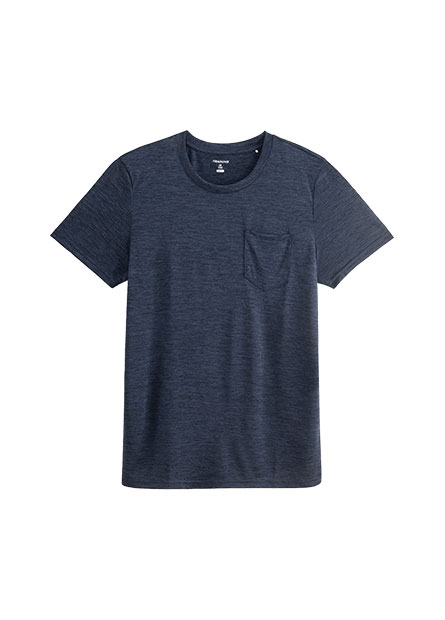 單口袋快適排汗圓領T恤