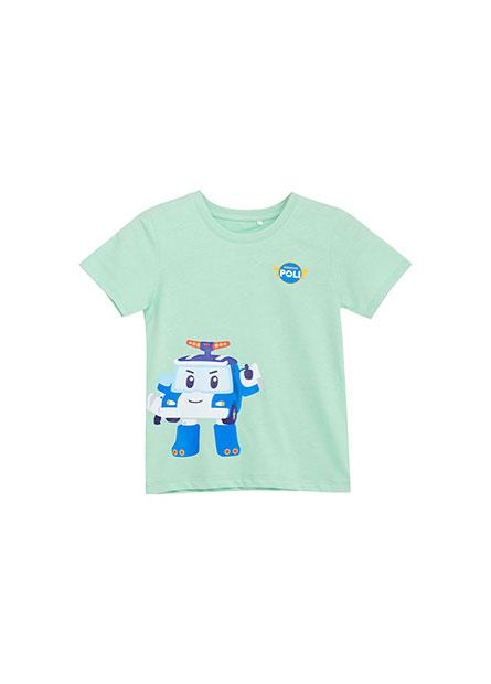 嬰兒POLI聯名印花T恤