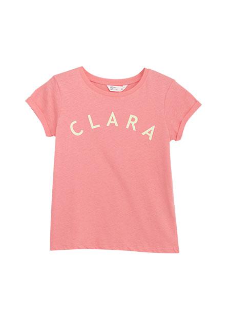 女童反摺袖印字T恤