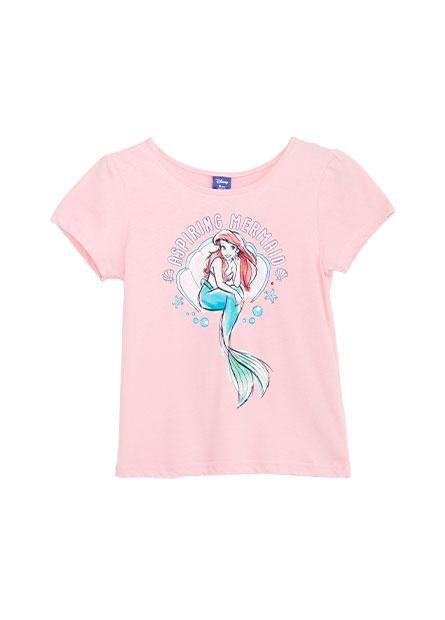 女童手繪公主印花T恤