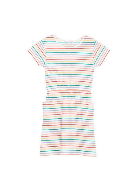 女童滿版印字鬆緊帶洋裝