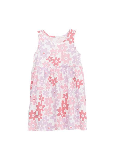 女嬰可愛花朵背心洋裝
