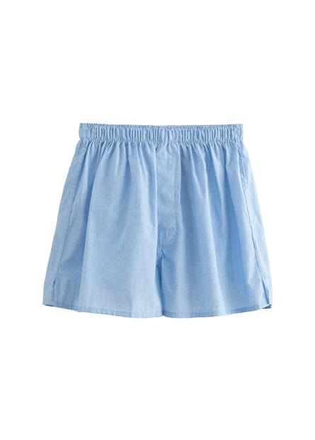 素色純棉平口內褲