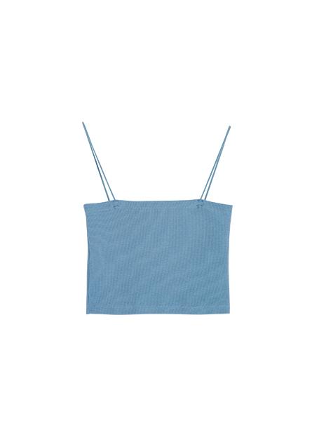 彈性羅紋平口背心