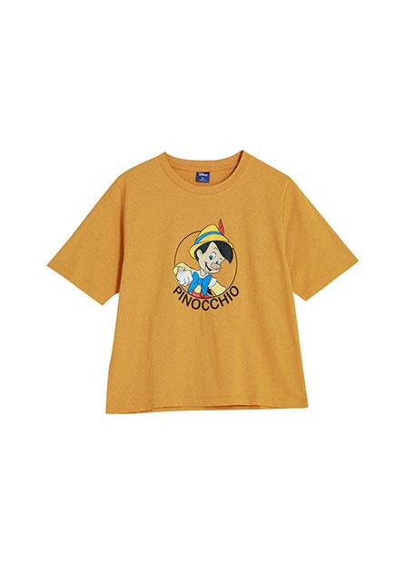 皮諾丘短版印花T恤
