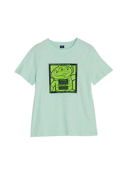 玩具總動員撞色印花T恤