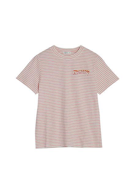 條紋英文印字T恤