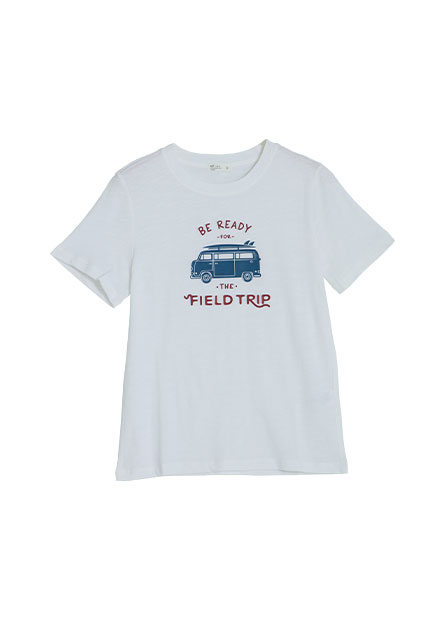 交通工具印花短袖T恤