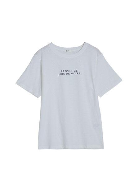 英文印字寬版T恤