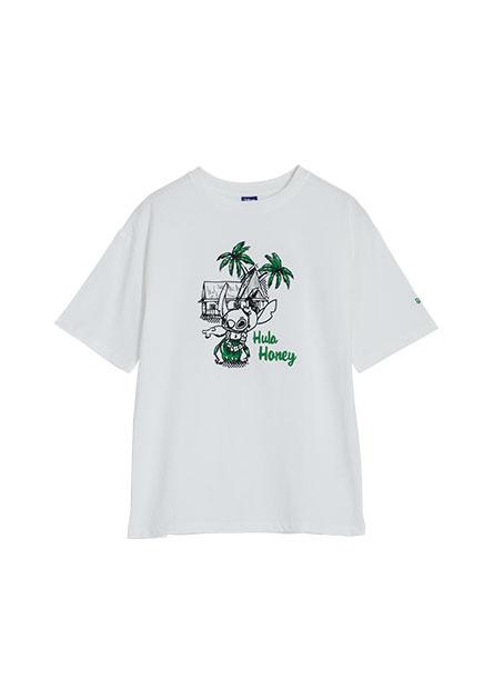 史迪奇印花短袖T恤