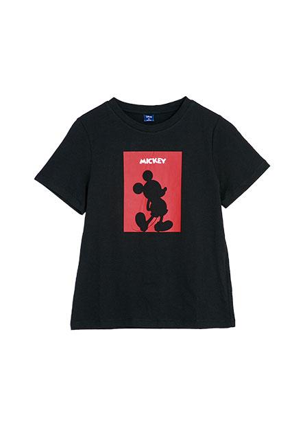 米奇剪影印花T恤