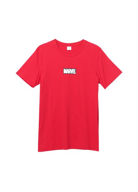 漫威標語印字T恤