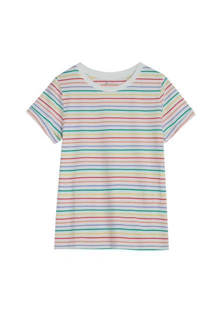 反摺袖滿版印花T恤