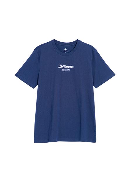 1993寬版側開衩印花T恤