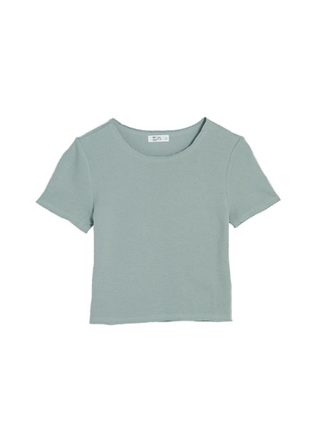 車邊素面短版T恤