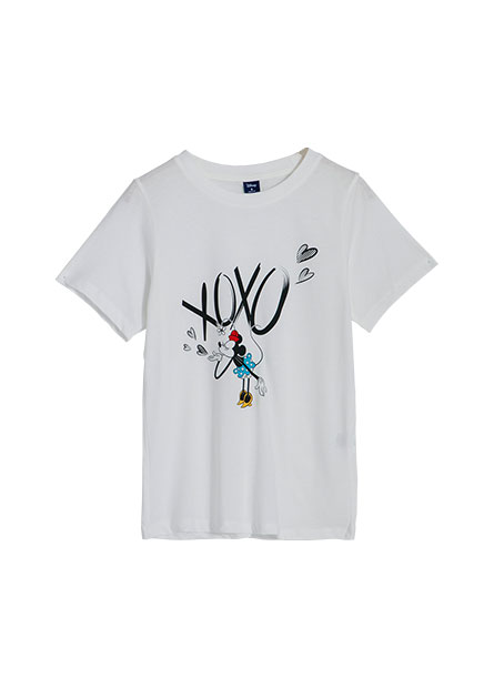 米奇米妮印花T恤