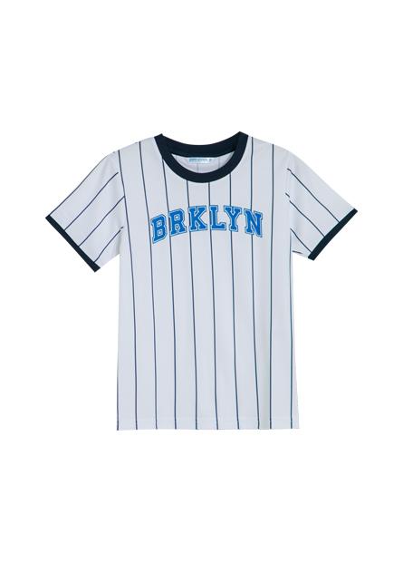 男童機能印字棒球上衣