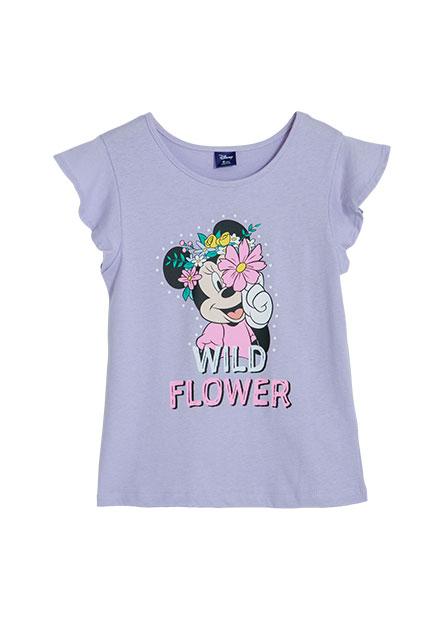 女童米妮荷葉袖印花T恤