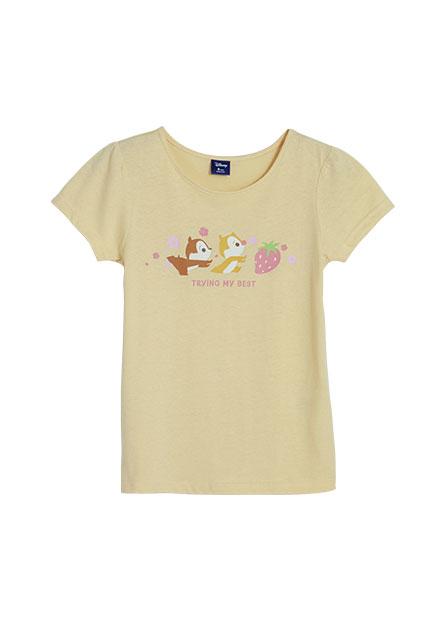 女童奇奇蒂蒂公主袖印花T恤
