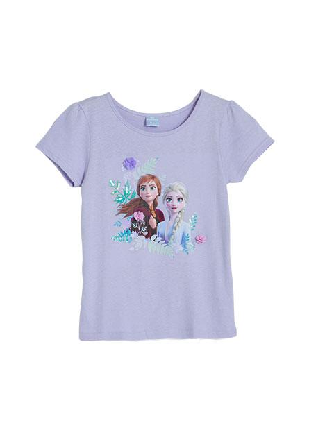 女童冰雪奇緣公主袖印花T恤