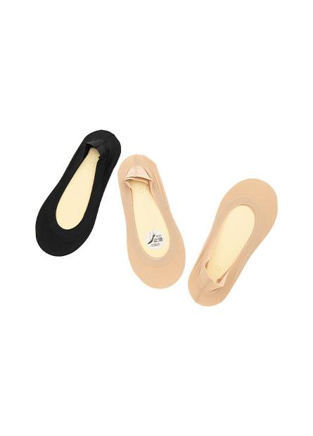 女腳跟止滑隱形襪(三入)