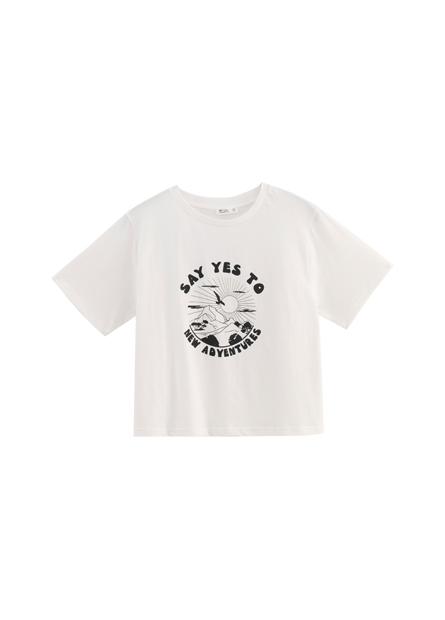 勵志文字印花T恤