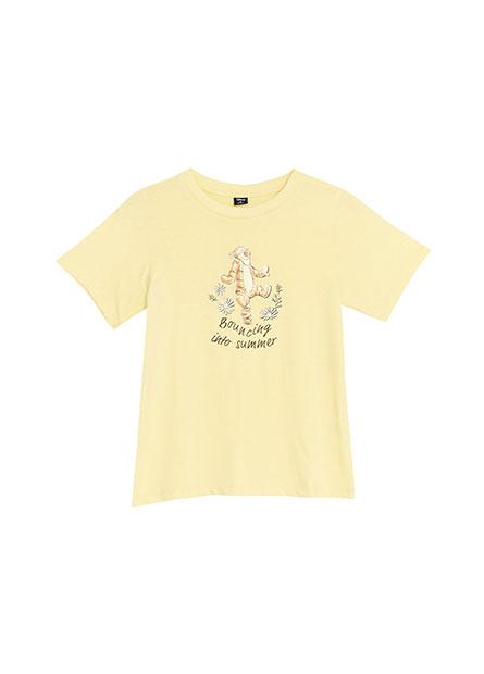 手繪風維尼印花T恤