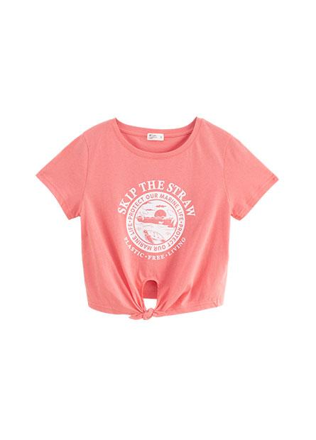 環保意識綁帶T恤