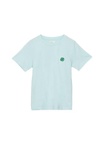 可愛動物繡花T恤