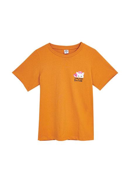 左胸TSUMTSUM印花T恤