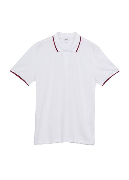 跳色拼條POLO衫