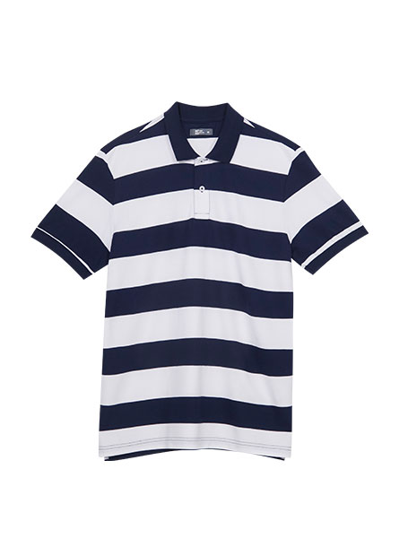 寬條紋POLO衫