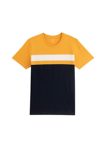 拼接撞色T恤