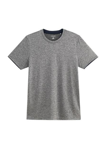 假兩件撞色機能T恤