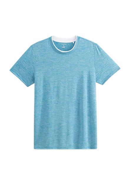 假兩件撞色圓領T恤