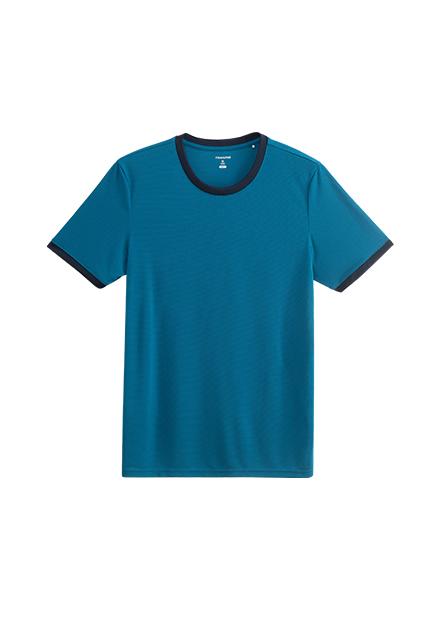 圓領素面撞色T恤