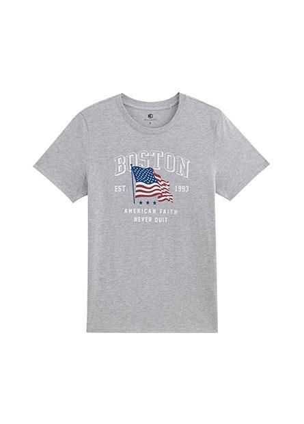美國國旗印花T恤